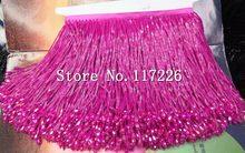 5 yards  bag hot pink tube color 15 cm width ribbon fringe tassel for bridal  gown wedding dress decoration 4f2e41adc972
