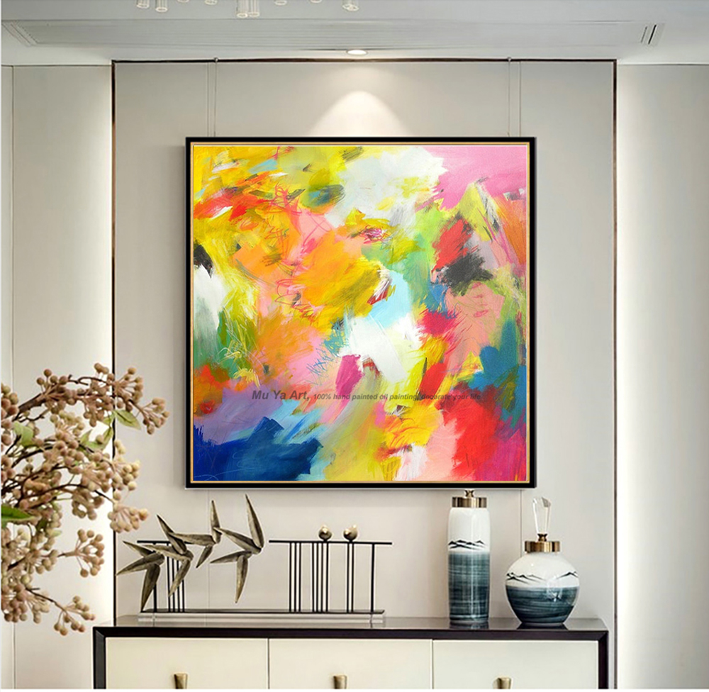 Us 42 41 15 Off Muya Artist Supply Cheap Modern Painting Abstract Wall Art Canvas Famous Abstract Paintings Reproduction Oil Paintings On Canvas In