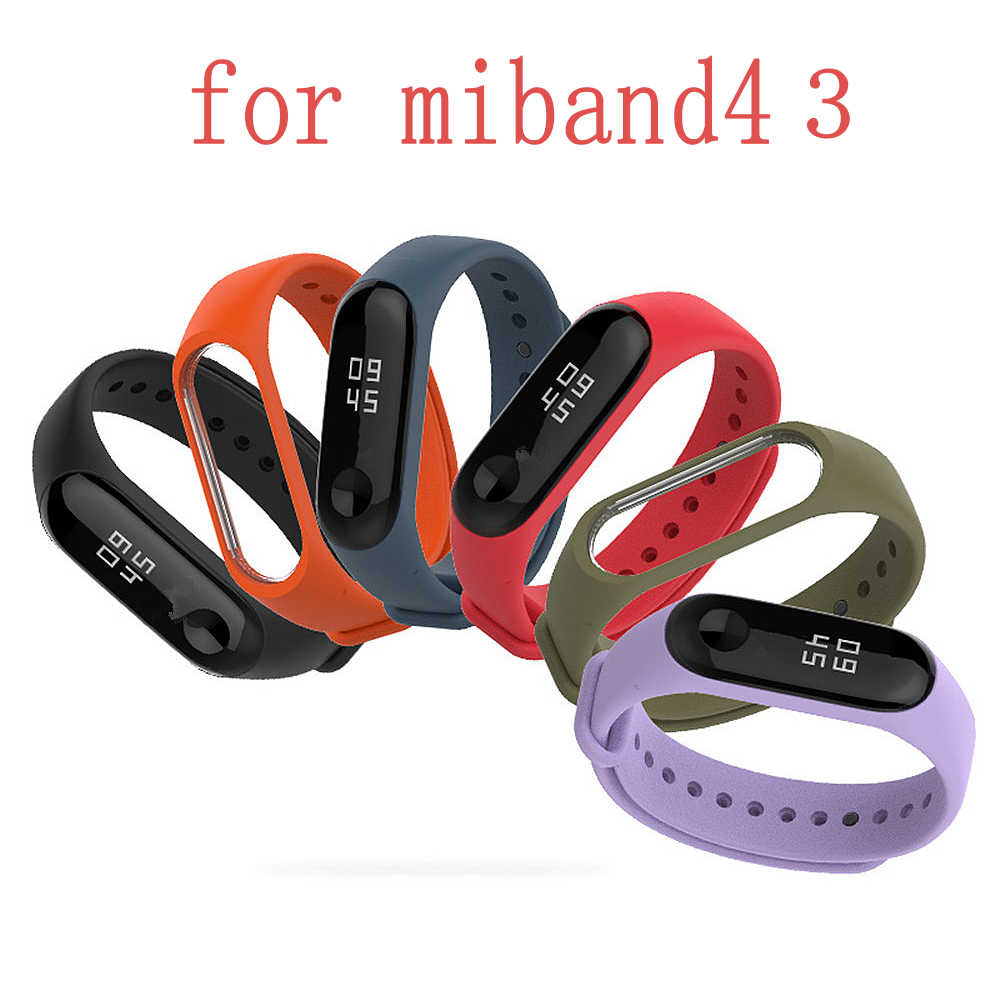 Original Xiaomi Colorful Silicone Wrist Strap Bracelet Replacement for Miband 3 4 Xiaomi Mi Band 3 4 Xiaomi Wristbands 4 3 NFC