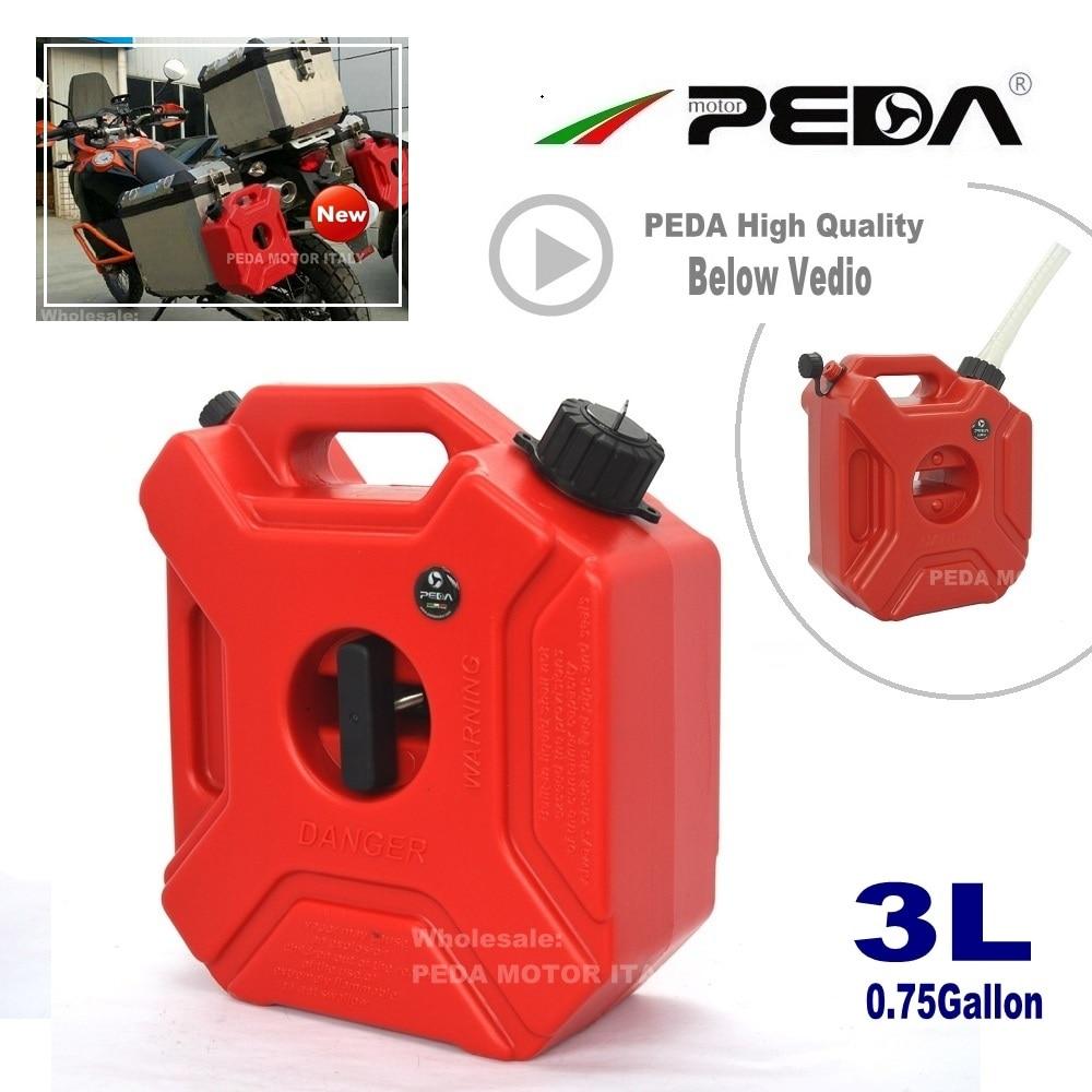 3L Jerry Can Tanque de combustible portátil 0.75 galones Latas de plástico diésel ATV Gokart Utv Tanques de motos gasolina montaje de pico repostaje