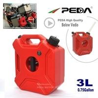3L Jerry Can Portable fuel tank 0.75 Gallon Plastic diesel cans ATV Gokart Utv Motorcycle tanks gasoline mount spout refueling