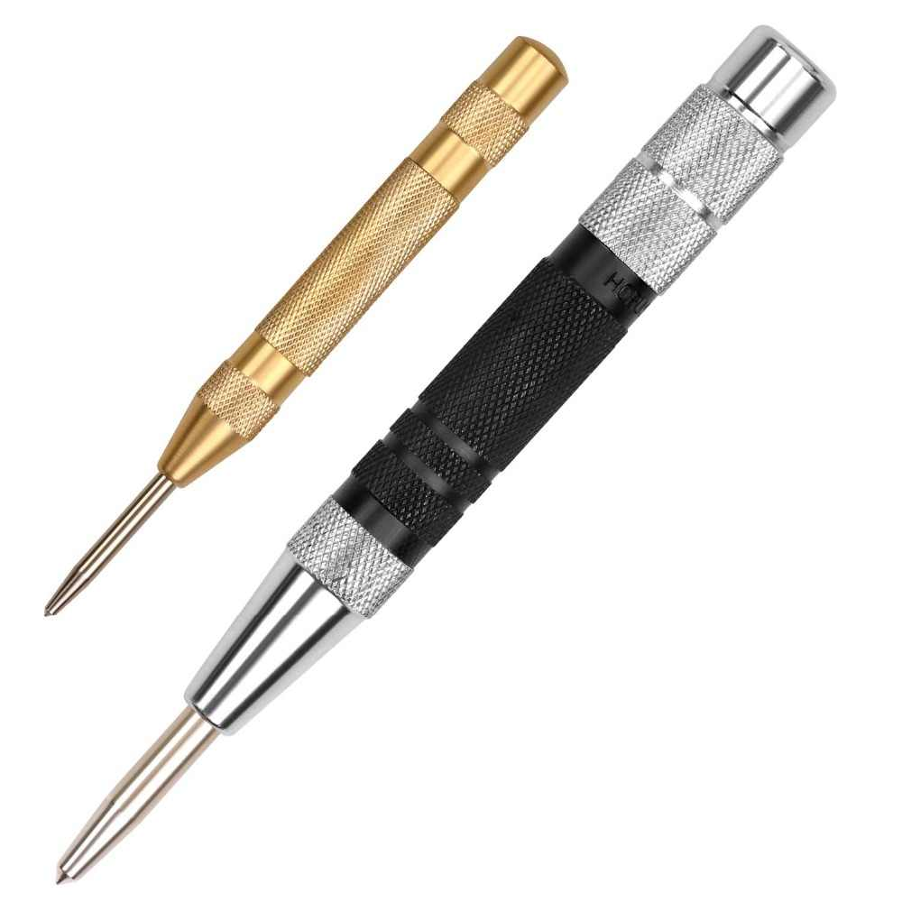 HORUSDY Super Strong Automatic Centre Punch and General Automatic Center Punch Adjustable Spring Loaded Metal Drill Tool 2pcs