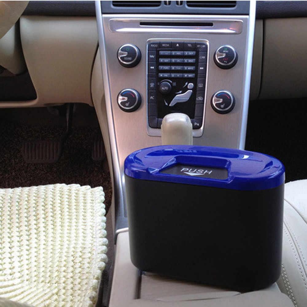 Mobil Tempat Sampah Mini Kendaraan Auto Mobil Persegi PVC Organizer Casing Pemegang Sampah Sampah Kotak Penyimpanan Tempat Sampah Mobil Cubo sampah Coche