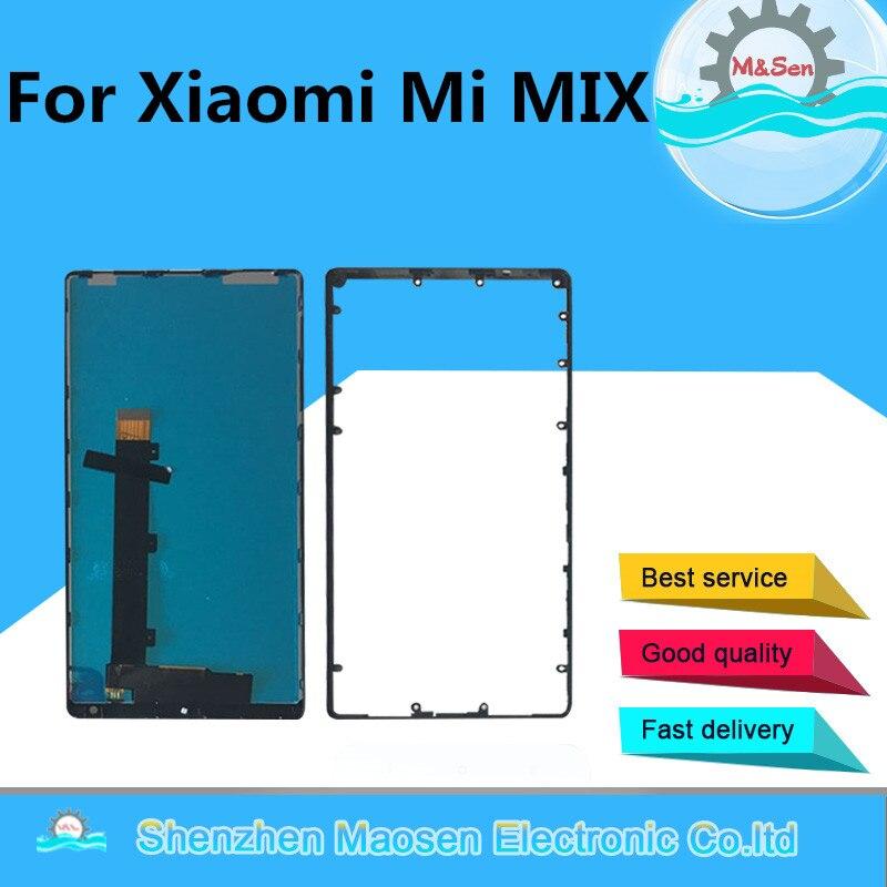 M & Sen Pour 6.4 Xiao mi mi mi x/mi mi x Pro 18 k version cera mi c mi ddle cadre Lcd écran Affichage + Écran Tactile digitizer avec cadre