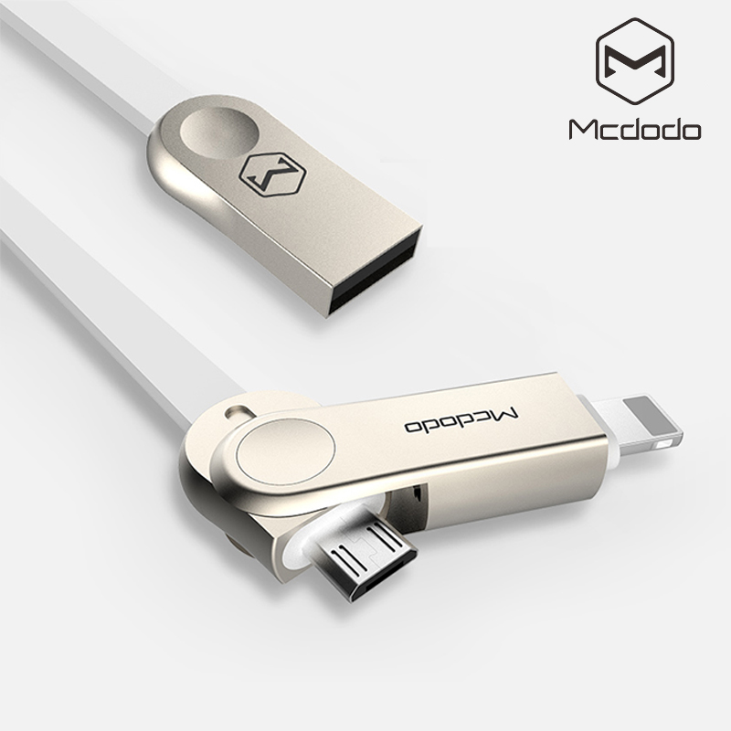 Mcdodo 2 in 1 Lightning to USB Cable for iPhone 7 Plus Micro USB Cable for Samsung Xiaomi Fast Charging for iPhone 6s Data Cable