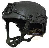 MILITECH M/LG OD NIJ level IIIA 3A Air Frame Aramid Bulletproof Helmet Airframe Ballistic Helmet With 5 Years Warranty