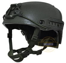 MILITECH M/LG OD NIJ niveau IIIA 3A cadre pneumatique aramide casque pare balles casque balistique avec 5 ans de garantie