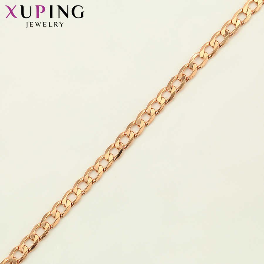 Xuping シンプルなネックレス女性のための文学スタイルジュエリー新着ローズゴールド色メッキ結婚式の日ギフト S123 、 2-45231