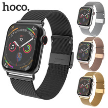 HOCO Meshed Stainless Steel Strap for Apple Watch 4/3/2/1 Metal Belt Bracelet bands iWatch 44mm 42mm 40mm 38mm