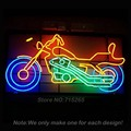 Sinal de néon moto bicicleta hd motocicleta sinal da luz de néon tubo de vidro artesanato Lâmpadas Avize Vidro Real Luz Neon Lâmpada Affiche VD 19x15