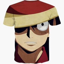 One Piece Monkey D. Luffy Anime Print Casual Fashion Men's T-shirt
