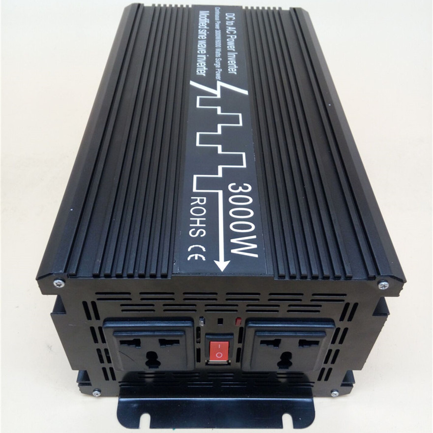 3000W/6000W Modified Sine Wave Inverter DC 12V 24V 48V to AC 110V 220V,Off Grid Inversor Portable 3000W/6000W Power Inverter