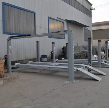 4 Column Lifting Machine Alignment Lift 4.6m platform the total length 5.8m With Second Lift jack