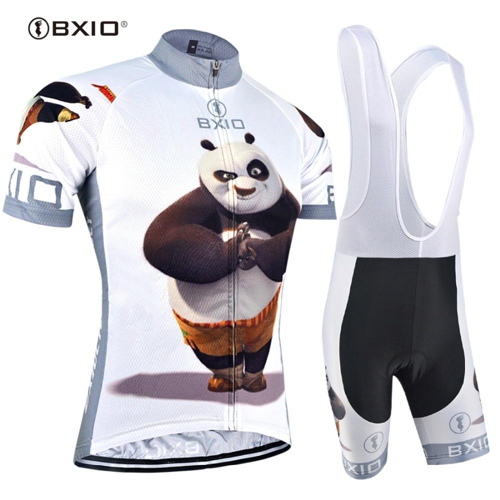 BXIO 2019 Engraçado Mans Raiders Jerseys de Ciclismo Ropa de ciclismo Urso Gordo Pro Roupas de Ciclismo Define Completo Ciclismo Estivo 081
