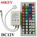 Светодиодный Контроллер 44 Ключей СВЕТОДИОДНЫХ ИК RGB Контроллер СВЕТОДИОДНЫЕ Индикаторы Контроллера ИК-Пульт Дистанционного Диммер DC12V 6A Для RGB SMD 3528 5050 LED газа