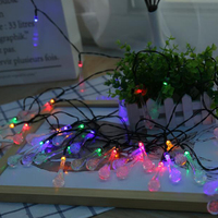 Led Solar Lamp LED Outdoor Solar Lamps 30LEDs String Lights Fairy Holiday Christmas Party Garland Solar Garden Waterproof Lights