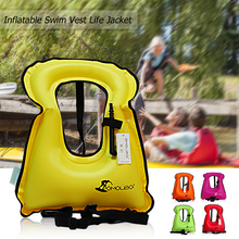 Inflatable Swim Vest Life Jacket for Snorkeling Floating Device Swimming Drifting Surfing Water Sports Life Saving 30m life saving rope float line swimming snorkeling safety kit outdoor water sports safety products for life buoy raft orange