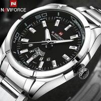 NAVIFORCE Brand Men Watches Business Quartz 30M Waterproof Watches Men S Stainless Steel Band Auto Date
