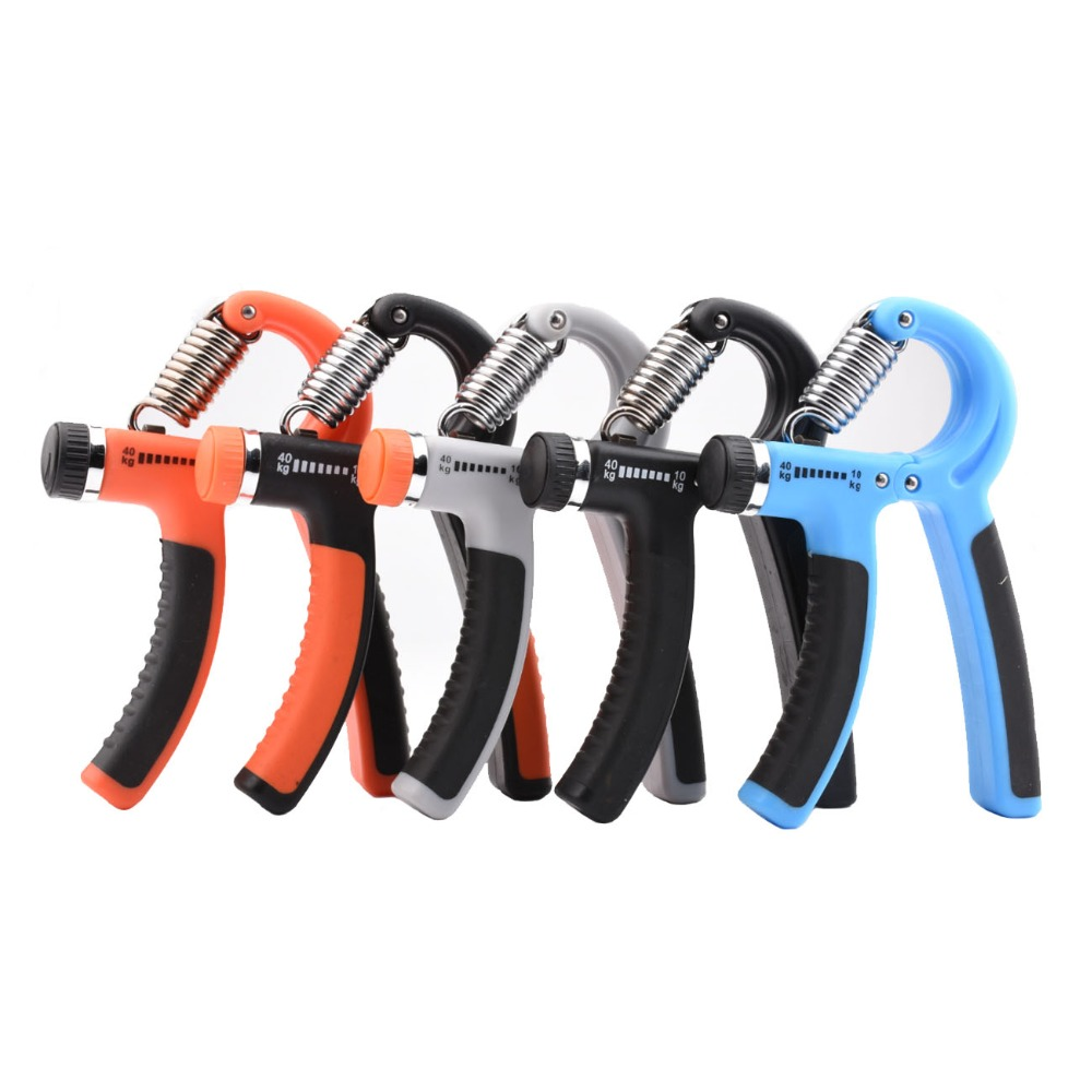 Hand Grip Gripper With Counter Heavy Duty Steel Exerciser Fitness NEW Orange
