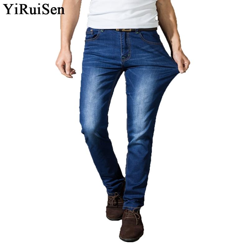 YIRUISEN márka ruházat Skinny Jeans Férfi Stretch Slim Long Pants - Férfi ruházat