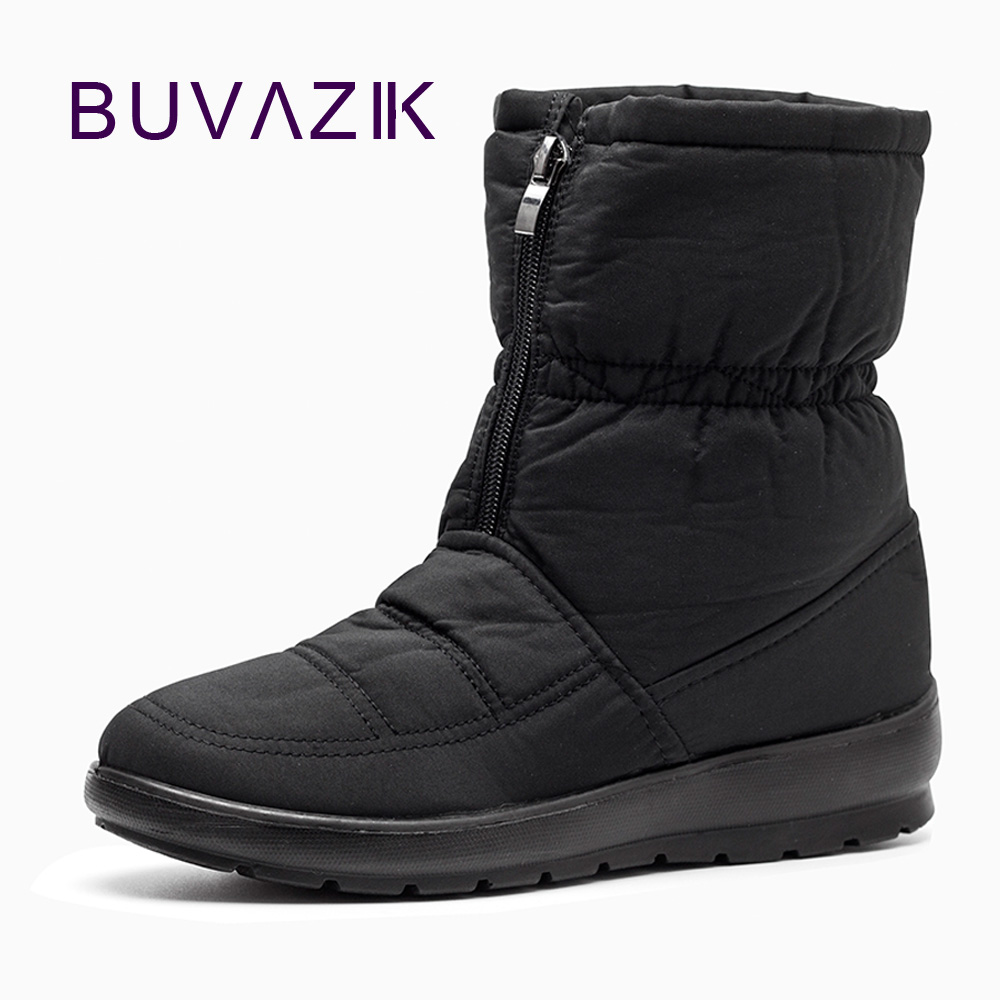2017 The new non slip waterproof winter boots plus cotton velvet middle aged mother shoes warm
