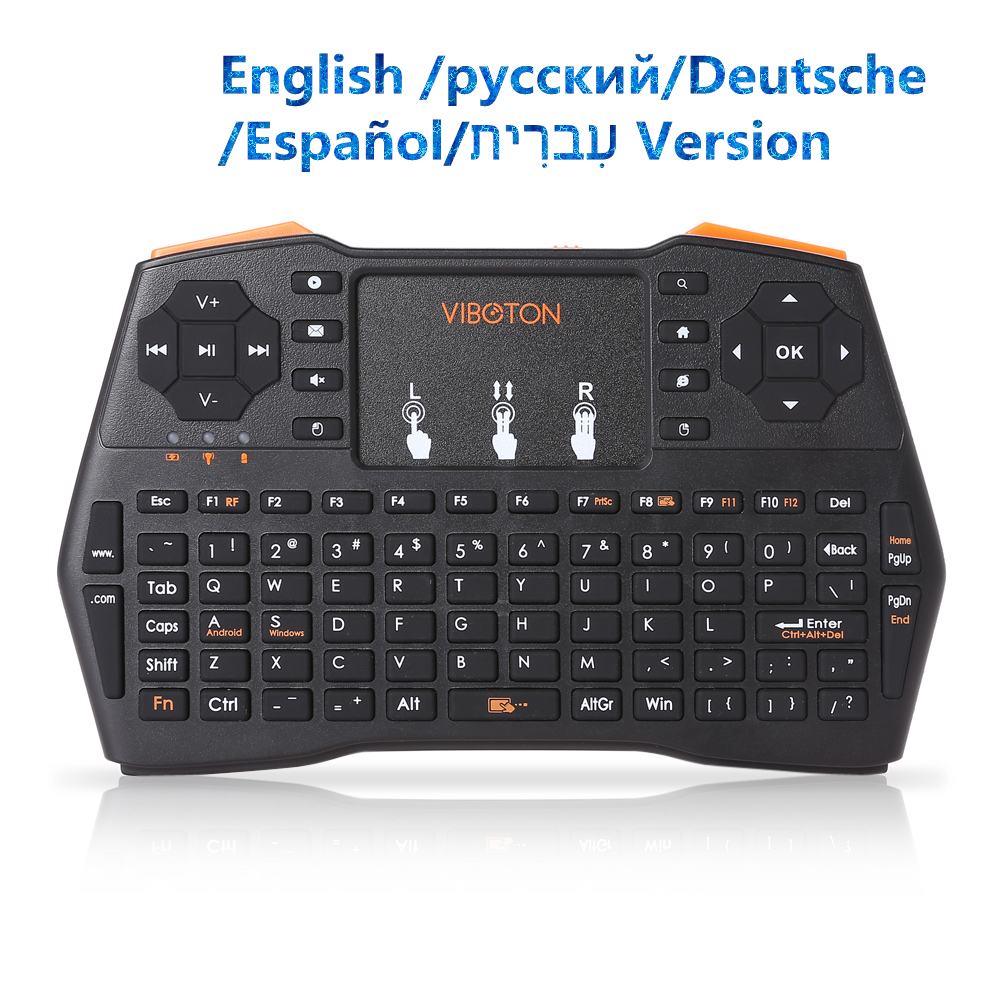 buy viboton i8 plus mini wirless keyboard 2 4ghz usb2 0 wireless handheld. Black Bedroom Furniture Sets. Home Design Ideas