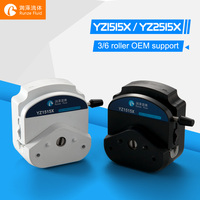 Easy Load Peristaltic Pump Head YZ1515X Stainless Steel 3/6 Rollers