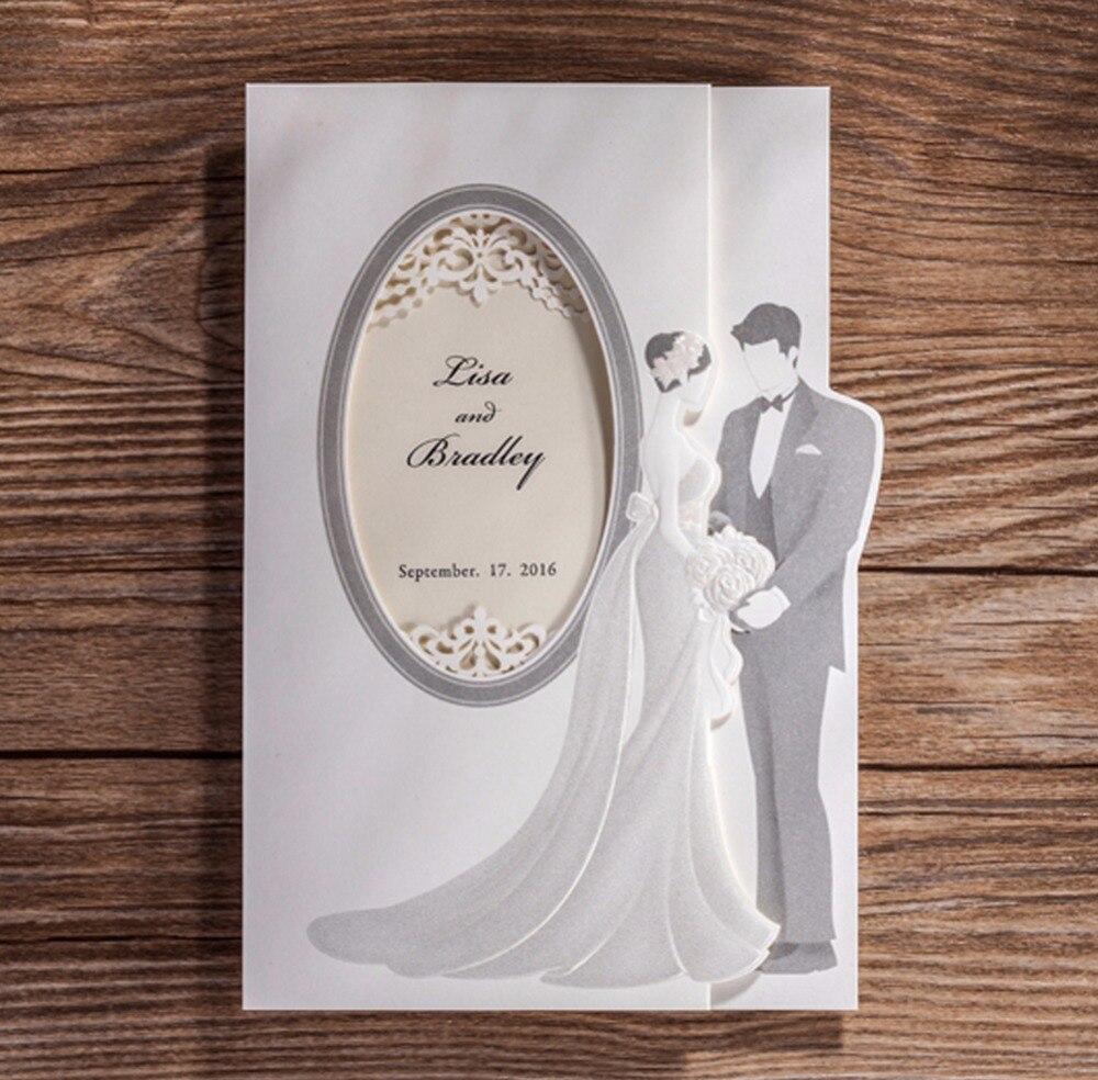 Hot Sale Elegant White Embossed Dots Silk Tie Wedding Invitations ...