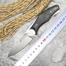 WLT Dark V Folding Blade Knife Wild D2 Blade G10 Handle Flipper Tactical Knife Camping Survival Outdoor Hunting Knives EDC Tools