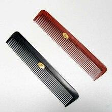 AMSIC 1 шт. профессиональная расческа для волос термостойкая средняя резка углеродная расческа для салона Антистатическая Парикмахерская щетка для укладки инструмент AM205