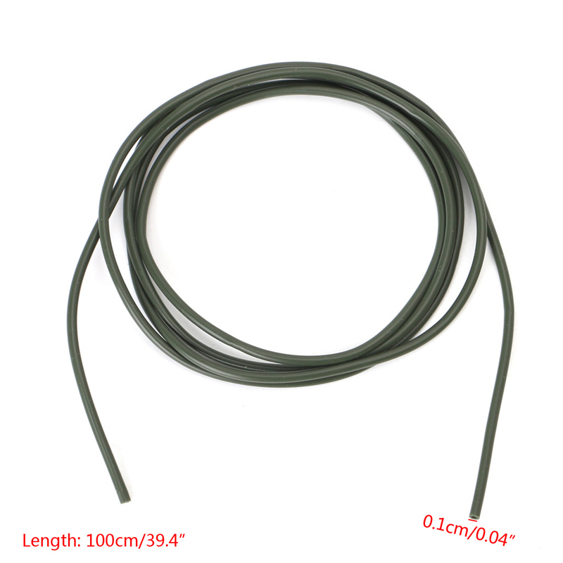 New 2PC 1M Silicone Rigs Tube Sleeve Pretend Fishing Lines For Carp Fishing 0.1cm