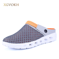 Men Summer Sandals Breathable Mesh Sandal Summer Beach Mens Shoes Water Man Slippers Fashion Slides Cheap