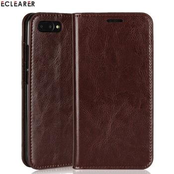 ECLEARER Wallet Case Huawei Honor V10 Genuine Leather Case Honor 10 Vintage Card Slots Flip Case