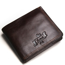 New Guaranteed Genuine Leather Brand Men Wallets Design Short Small Wallets Male Mens Purses Card Holder Carteras luxury