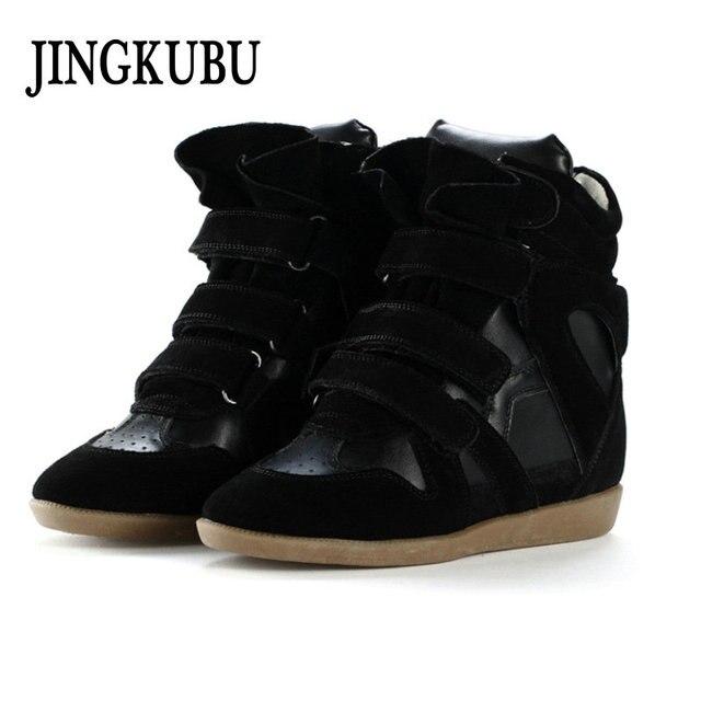 JINGKUBU Yeni Inek Süet Çizmeler Kadın moda rahat ayakkabılar Kadın Için Amerika Ve Avrupa Içinde Artan Ayakkabı Kadın Büyük Boy 35- 40