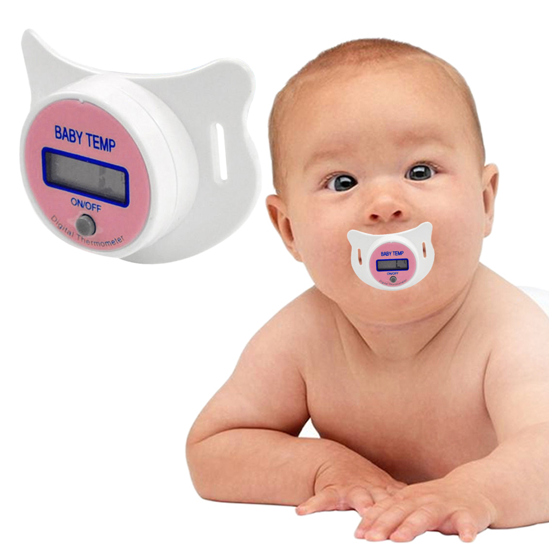 LCD Digital Baby Nipple Thermometer Medical Silicone Pacifier Children's Thermometer Health Safety Care Thermometer For Children