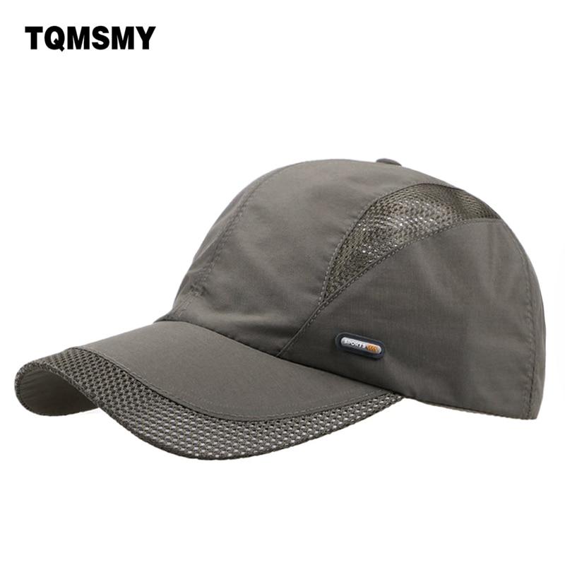Bahar Kişilər və qadınlar snapback cap tez quru yay günəş şapkası visor Hip-Hop sümüklü nəfəs ala bilən chapeu təsadüfi mesh kişilər Baseball qapaqları