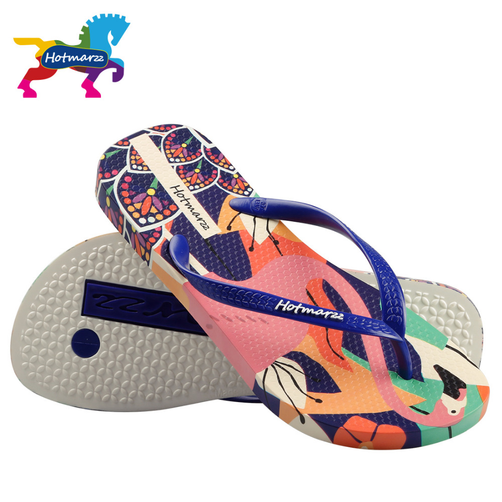 0f8c9c0387d060 Hotmarzz Women Designer Flip Flops Cartoon Flamingos Bird Print Slippers  Beach Sandals Summer Shoes 2018 Pool Shower Shoes-in Flip Flops from Shoes  on ...