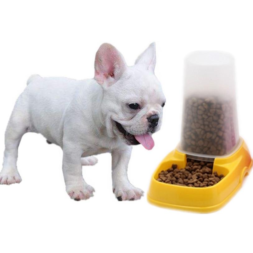 Dog Bowl Plastic Portable Automatic Pet Feeder Travel