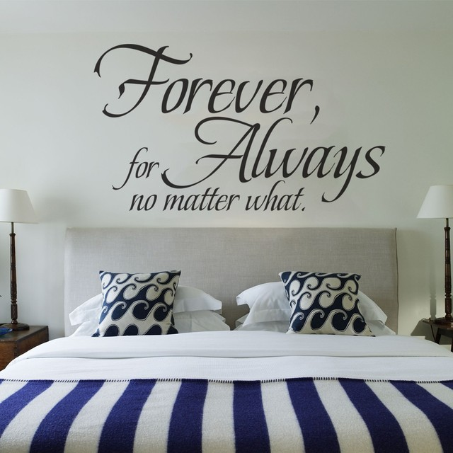 Love Wall Quote Forever For Always No Matter What Wedding Decoration