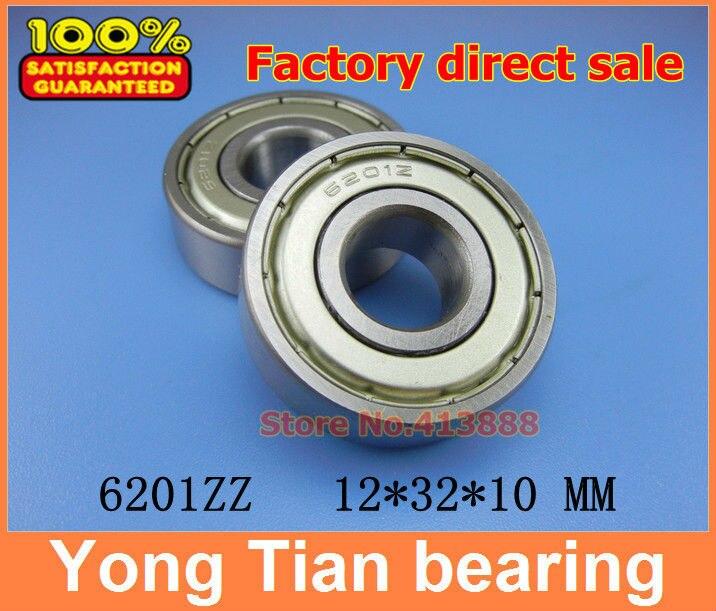 200pcs lot free shipping Wholesale Miniature deep groove ball bearing 6201ZZ 12 32 10 mm