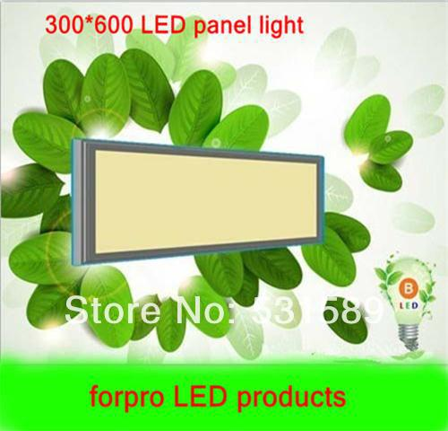 4pcs Free shipping 20W 300*600  Square   led  panel light Cool White/Warm White AC85-265V For kitchen led light bathroom light free shipping via dhl led panel light 600x600 48w high brightness led ceiling light white warm white light