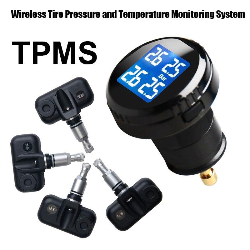 Шин Давление мониторинга Системы автомобиль TPMS с 4 шт. внутренний Датчики