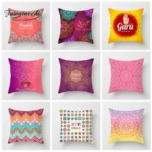 Fuwatacchi Floral Pattern Cushion Cover Woven  Geometric Pillow Cover Home Sofa Car Chair Livingroom Decorative Pillowcase цены