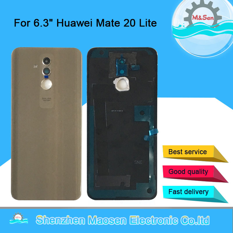 Case Housing Glass-Lens Cover Back-Battery Huawei 20-Lite Original M for Huawei/Mate/20-lite/Glass