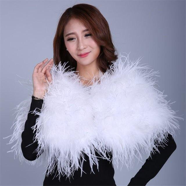 Tienda Online Real avestruz Pieles de animales chales blanco ...