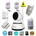 Casa inteligente sistema de alarme da segurança home sem fio com câmera IP HD wi-fi 2 em 1 ios android app controle remoto monitor de alarme de vídeo