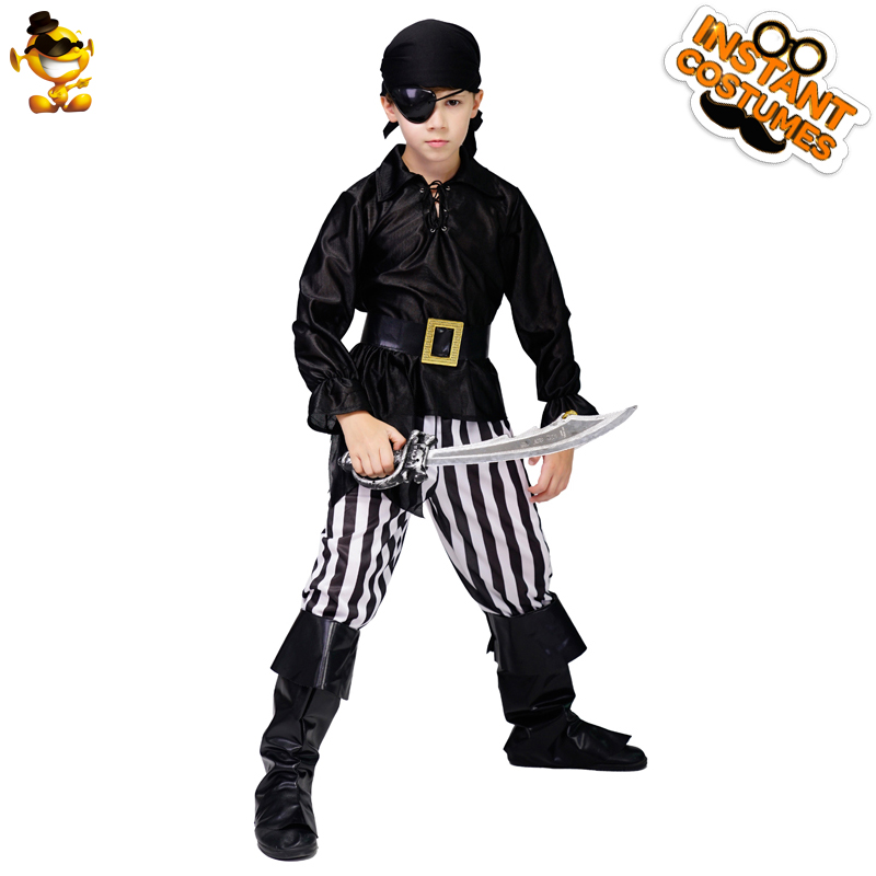 Kid's Boy Pirate Costume Role Play Halloween Pirate Suit Cosplay Boy Costume
