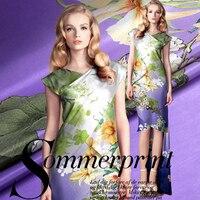 140cm wide 10mm cotton comfortable summer fabric luster print soft cotton satin silk cotton
