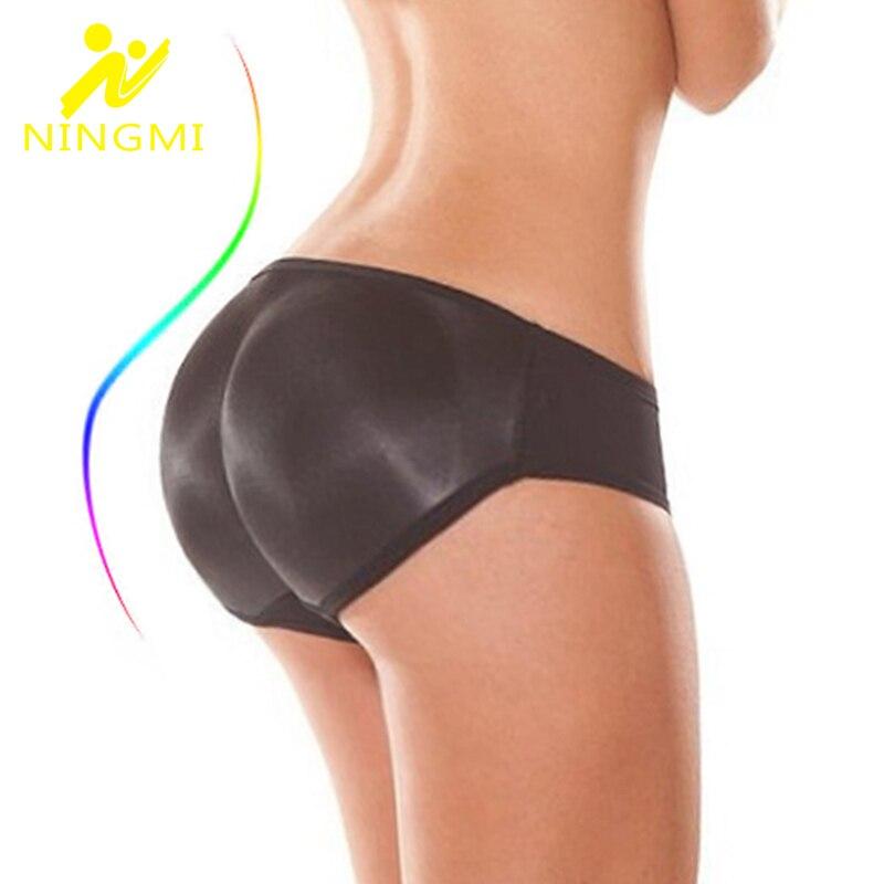 NINGMI M-4XL Booty Hip Enhancers Butt Lifter Body Shapers Women Waist Trainer Sexy Big Ass Briefs Push Up Bottom Control Panties